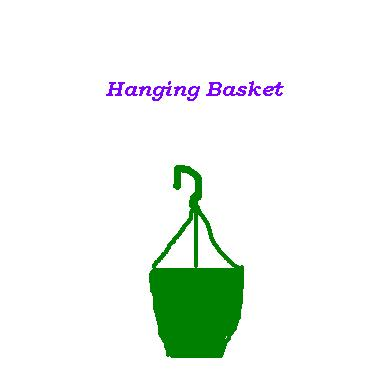empty haning basket